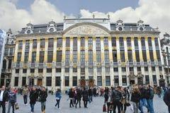 De grote de plaatsbouw van Brussel, Stock Afbeelding