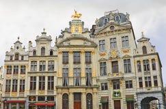 De grote de plaatsbouw van Brussel, België. Stock Fotografie