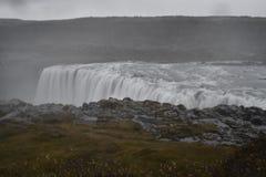 De grote Dettifoss-Waterval in het noordoosten van IJsland royalty-vrije stock afbeeldingen