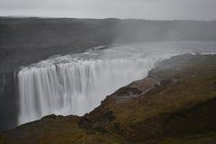 De grote Dettifoss-Waterval in het noordoosten van IJsland stock foto