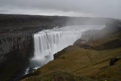 De grote Dettifoss-Waterval in het noordoosten van IJsland stock afbeelding