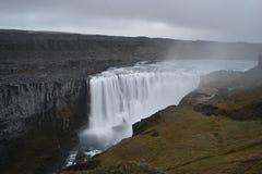 De grote Dettifoss-Waterval in het noordoosten van IJsland stock fotografie