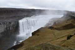De grote Dettifoss-Waterval in het noordoosten van IJsland royalty-vrije stock afbeelding