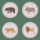 De grote dieren van het driehoekswild Royalty-vrije Stock Afbeeldingen