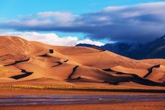 De grote Duinen van het Zand Stock Foto's