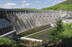 De grote Edersee-Dam, Duitsland Stock Fotografie