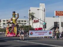 De grote fiets van het pretpersonenvervoer, de vlotter van de Producertalenttoekenning in famou Royalty-vrije Stock Foto's