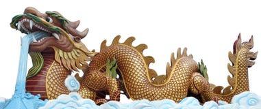De grote gouden draak Stock Afbeeldingen