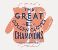 De grote gouden handschoenen royalty-vrije illustratie