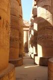 De grote Hypostyle Zaal van de Tempel van Karnak. Royalty-vrije Stock Foto