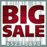 De grote illustratie van de verkoopstreepjescode. EPS 8 Stock Fotografie