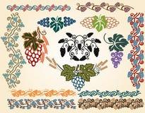 De grote inzameling van de druivenjugendstil royalty-vrije illustratie