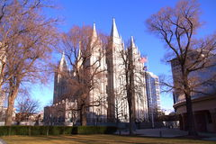 De grote Kathedraal van Madeleine in Salt Lake City Stock Foto
