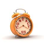 De grote klok verzekert omhoog kielzog het 3d teruggeven Royalty-vrije Stock Afbeelding