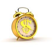 De grote klok verzekert omhoog kielzog het 3d teruggeven Royalty-vrije Stock Afbeeldingen
