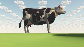 De grote Koe Bedrijfs van GMO stock illustratie