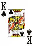 De grote koning van de indexspeelkaart van clubs vector illustratie