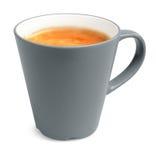 De grote kop van de stijl van echte geïsoleerdeg espresso royalty-vrije stock foto