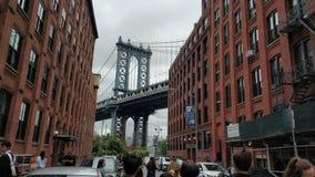 De grote mening van de Brug van Manhattan royalty-vrije stock foto
