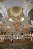 De grote moskee Abu Dhabi van Sheikh Zayed Stock Afbeeldingen