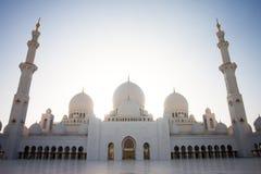De Grote Moskee Abu Dhabi van Zayed van de sjeik Royalty-vrije Stock Foto's