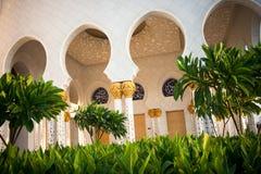 De Grote Moskee Abu Dhabi van Zayed van de sjeik Royalty-vrije Stock Fotografie