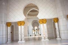 De Grote Moskee Abu Dhabi van Zayed van de sjeik Stock Fotografie
