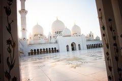 De Grote Moskee Abu Dhabi van Zayed van de sjeik Stock Afbeeldingen