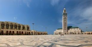 De Grote Moskee en Hassan op een reusachtig vierkant op Atlantische coa Stock Fotografie