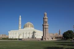 De Grote Moskee van Qaboos van de sultan in Muscateldruif Stock Afbeelding
