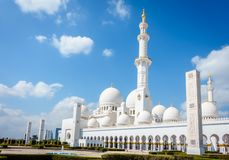 De Grote Moskee van Zayed van de sjeik stock foto's