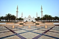 De Grote Moskee van Zayed van de sjeik in Abu Dhabi Stock Fotografie