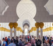 De Grote Moskee van Zayed van de sjeik in Abu Dhabi, de V Stock Fotografie