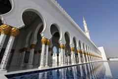 De Grote Moskee van Zayed van de sjeik stock afbeeldingen