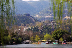 De grote Muur bij de provincie van China zhejiang Royalty-vrije Stock Fotografie