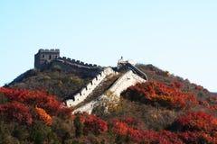 De grote Muur in China Royalty-vrije Stock Afbeeldingen