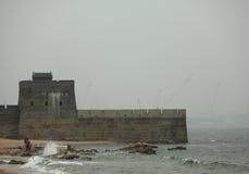 De grote muur, het hoofd van de oude draak - Shanhai-pas Royalty-vrije Stock Afbeeldingen