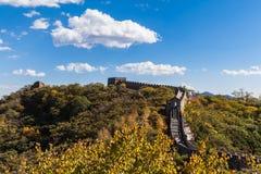 De grote muur, Mutianyu-Deel Stock Afbeelding