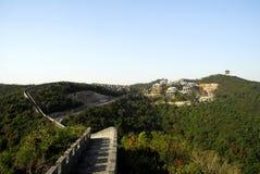 De Grote Muur op het overzees Stock Fotografie