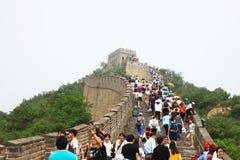 De Grote Muur van Badaling royalty-vrije stock afbeeldingen