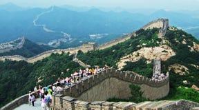 De Grote Muur van Badaling stock afbeelding