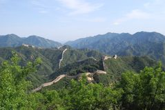 De grote Muur van China in Badaling Royalty-vrije Stock Fotografie