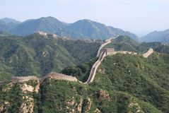 De grote Muur van China in Badaling Stock Fotografie