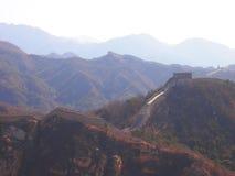 De grote Muur van China in Badaling Stock Foto
