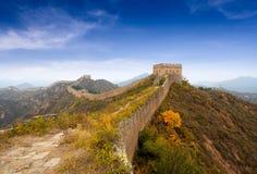De grote muur van China in de herfst Royalty-vrije Stock Afbeeldingen