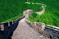 De grote Muur van China De grote Muur van China is een reeks van fort Stock Afbeelding