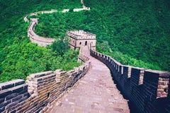 De grote Muur van China De grote Muur van China is een reeks van fort Royalty-vrije Stock Afbeelding