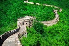 De grote Muur van China De grote Muur van China is een reeks van fort Stock Afbeeldingen