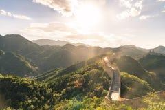 De Grote Muur van de bovenkant van de berg, China Stock Foto