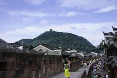 de grote muur in zuiden van China Stock Afbeelding